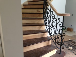 custom staircase metal rail